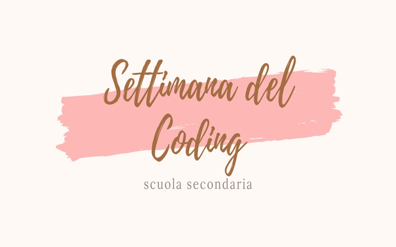 SETTIMANA DEL CODICE (secondaria)